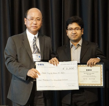 Ray,Sagar wins IEEE best paper aug2015cropped